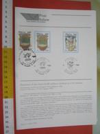 D.01 BOLLETTINO ILLUSTRATO ANNOUNCEMENT POST ITALIA - 1995 ALIMENTAZIONE CIBO VERCELLI RISO LUCCA OLIO + FRANC.+ ANNULLO - Alimentazione