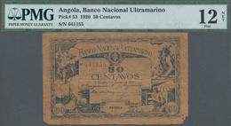 Angola: 50 Centavos 1920, P.53, PMG Graded 12 Fine NET - Angola