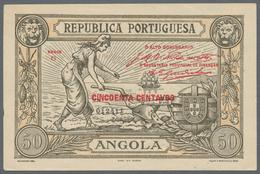 Angola: 50 Centavos 1921 P. 62 In Condition: AUNC. - Angola