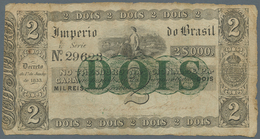 Brazil / Brasilien: Imperio Do Brasil 2 Mil Reis D. 1833 (1843-60), P.A220, Highly Rare Note Of The - Brésil