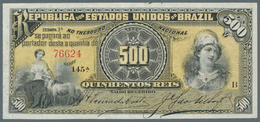 Brazil / Brasilien: 500 Mil Reis ND(1891), P.1b, Very Nice Note With Bright Colors, Obviously Presse - Brésil