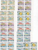 Jordan 1974 FISH Set 11 Stamps ComplMNH Bloc's Of 4 Scarce Set- Reduced Price - SKRILL PAYMENT ONLY - Jordan