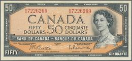 Canada: 50 Dollars 1954, Signature Beattie & Rasminsky, P.81b With Soft Vertical Fold At Center. Con - Canada