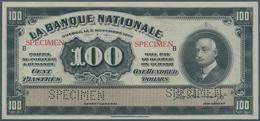 Canada: La Banque Nationale 100 Dollars 1922 SPECIMEN, P.S875s In Perfect Condition, Slightly Wavy P - Canada