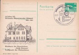 DDR 30 Jahre AG Philatelie Erich Weinert Klubhaus Der Eisenbahner 03-01-1983 - Trains