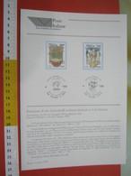 D.01 BOLLETTINO ILLUSTRATO ANNOUNCEMENT POST ITALIA - 1995 ALIMENTAZIONE CIBO VERCELLI RISO LUCCA OLIO - Alimentazione