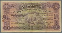 Ethiopia / Äthiopien: 10 Thalers 1932, P.8, Still Nice And Rare Note With Tiny Margin Splits, Rusty - Ethiopie