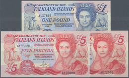 Falkland Islands / Falkland Inseln: Set 3 Notes Containing 2x 1 Pound 1983 P. 12 (UNC) And 1 Pound 1 - Falkland