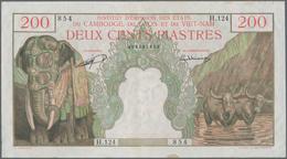 French Indochina / Französisch Indochina: 200 Piastres 1953 P. 98, Very Crisp Paper With Light Handl - Indochine