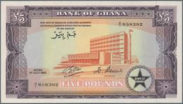 Ghana: 5 Pounds 1962 P. 3d, Bank Of Ghana, In Crisp Original Condition, 2 Light Dints And One Minor - Ghana