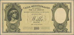 Greece / Griechenland: Italian Occuppation WWI 1000 Drachmai 1941 P. M6 Used With Some Vertical Fold - Greece