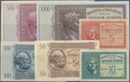 Greece / Griechenland: Set Of 15 Notes Containing 2x 5 Drachmai 1941 P. M12 (F To F+), 10 Drachmai 1 - Greece