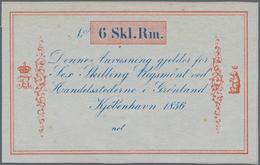 Greenland / Grönland: 6 Skilling Rigsmönt 1856 Unsigned Remainder, P.A33r, Tiny Brownish Spots On Ba - Groenland