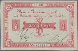 Greenland / Grönland: 25 Oere 1905 P. 4b In Condition: AUNC. - Groenland