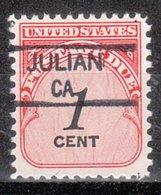 USA Precancel Vorausentwertung Preo, Locals California, Julian 835,5 - Vereinigte Staaten