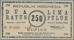 Indonesia / Indonesien: Rarely Offered Note Of 250 Rupiah 1949 P. S286, In Problem-free, Absolutely - Indonésie