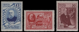 Russia / Sowjetunion 1941 - Mi-Nr. 801-803 ** - MNH - Schukowskij - 1923-1991 USSR