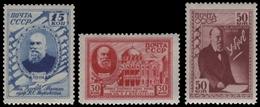 Russia / Sowjetunion 1941 - Mi-Nr. 801-803 ** - MNH - Schukowskij - 1923-1991 URSS