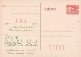 DDR 100 Jahre Eisenbahnlinie Wismar - Karow 1987 - Trains