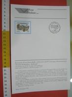 D.01 BOLLETTINO ILLUSTRATO ANNOUNCEMENT POST ITALIA - 1998 PERGOLA PESARO CONVEGNO FOSSILI AMMONITE APPENNINO EVOLUZIONE - Fossils