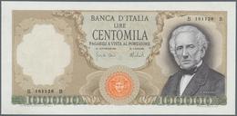 Italy / Italien: 100.000 Lire 1974 P. 100c Manzoni, S/N B 161128 B, Light Vertical Folds In Paper, P - [ 1] …-1946 : Royaume