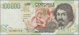 Italy / Italien: 100.000 Lire 1994 Replacement Prefix XE P. 117, In Condition: AUNC. - [ 1] …-1946 : Royaume