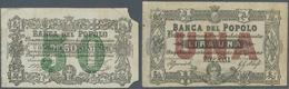 Italy / Italien: Set Of 2 Notes Banca Del Popolo 50 Centesimi And 1 Lira 1866-1871 P. G26, G27, The - [ 1] …-1946 : Royaume
