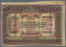 "Italy / Italien: Cassa Veneta Dei Prestiti 2 Lire 1918, P.M5 Error With Misprint ""1 Lira"" (like P.M4 - [ 1] …-1946 : Royaume"