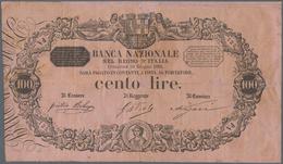 Italy / Italien: Banca Nazionale Nel Regno D'Italia 100 Lire 1895, P.S742, Repaired And Restored Par - [ 1] …-1946 : Royaume