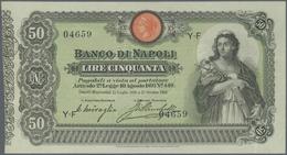 Italy / Italien: Banco Di Napoli 50 Lire 1903 P. S846, Seldom Offered Note, In Exceptional Condition - [ 1] …-1946 : Royaume