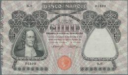 Italy / Italien: Banco Di Napoli 1000 Lire 1909-1921 P. S859, Light Folds In Paper, Pressed But Stil - [ 1] …-1946 : Royaume