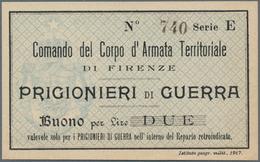 """Italy / Italien: P.O.W. Money """"Comando Del Corpo D'Armata Territoriale"""" 2 Lire 1917 P. NL, Remainder - [ 1] …-1946 : Royaume"""