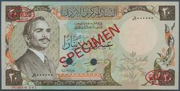 Jordan / Jordanien: 20 Dinars 1981 Specimen P. 21s2, Rarely Seen As PMG Graded Note In Condition: PM - Jordanie