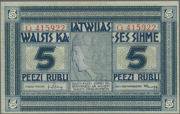 Latvia / Lettland: Latwijas Walsts Kaşes 5 Rubli 1919, P.3f, Great Original Shape And Bright Colors - Latvia