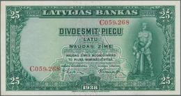 Latvia / Lettland: 25 Latu 1938 P. 21 With Crisp Paper And Original Colors, Condition: AUNC. - Latvia