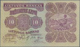 "Lithuania / Litauen: 10 Litu 1922 SPECIMEN With Red Overprint ""Pavyzdys - Bevertis"", P.18s1 In Perfe - Lituanie"