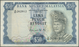 Malaysia:  Bank Negara Malaysia 50 Ringgit ND(1976-81), P.16, Still Nice And Attractive Note With A - Malaysie