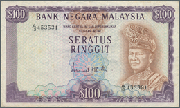 Malaysia: Bank Negara Malaysia 100 Ringgit ND(1976-81), P.17, Still Nice And Attractive Note With A - Malaysie