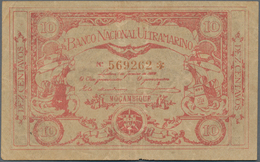 Mozambique: 10 Centavos 1920 P. 62, Used With Several Folds And Creases, No Holes, Still Strongness - Mozambique