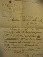 Busta Viaggiata POSTA MILITARE COMANDO 62° Battaglione Zappatori Del Genio 1916 Con Fonogramma E Documento - 1900-44 Vittorio Emanuele III