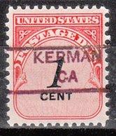 USA Precancel Vorausentwertung Preo, Locals California, Kerman 852 - Vereinigte Staaten