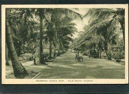 CPA - Seabreeze Avenue West, PALM BEACH, Animé - Automobiles - Palm Beach