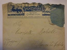 """Busta Viaggiata Pubblicitaria """"IL CACCIATORE ITALIANO Rivista Di Cinegenetca"""" 1918 - 1900-44 Vittorio Emanuele III"""