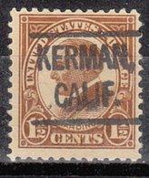 USA Precancel Vorausentwertung Preo, Locals California, Kerman 553-L-1 HS - Vereinigte Staaten