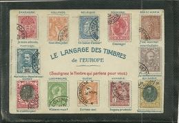 LE LANGAGE DES TIMBRES DE L' EUROPE (ref 4276) - Stamps (pictures)