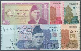 Pakistan: Set With 6 Specimen 1997-2010 Containing 5 Rupees 1997 Specimen, 100 And 500 Rupees 2006 S - Pakistan