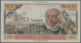 Réunion: 5000 Francs ND (1947) Specimen P. 48s, Famous Large Size Banknote With General Schoelcher A - Réunion