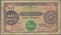Saint Thomas & Prince / Sao Tome E Principe: Banco Nacional Ultramarino 10 Centavos 1913, Place Of I - Sao Tomé Et Principe