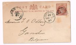 Entier Postal à 1/2 Penny.Expédié De LOndon à Gand (Belgique) - Stamped Stationery, Airletters & Aerogrammes