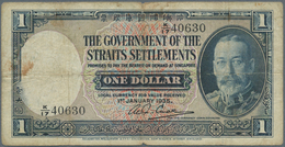 Straits Settlements: Set Of 2 Notes Containing 10 Cents ND P. 6, S/N K/9 32437, Used With Strong Cen - Malaysie